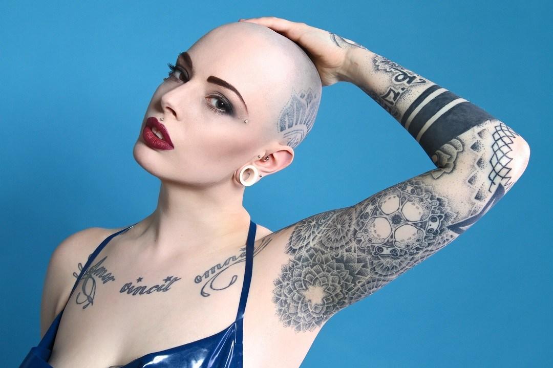Bald and Tattooed Hair Women