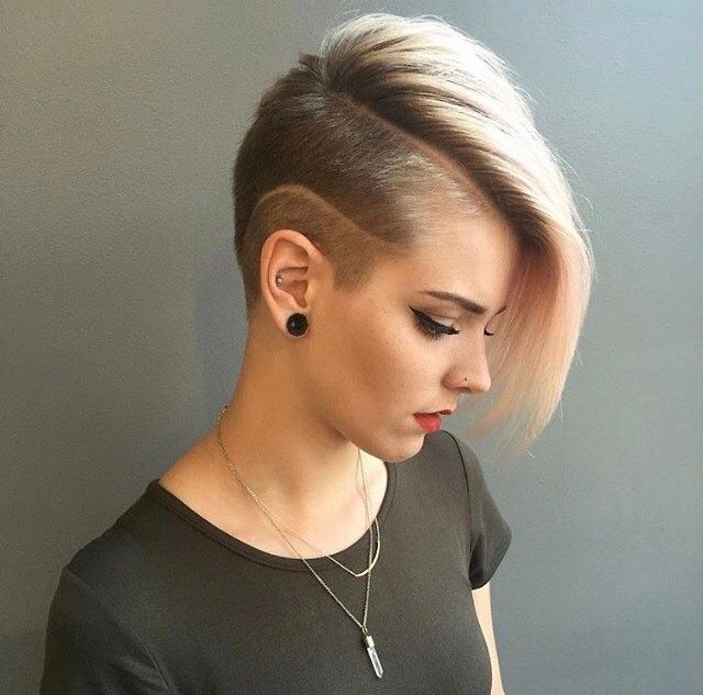 Side Cuts Hair Style For Women