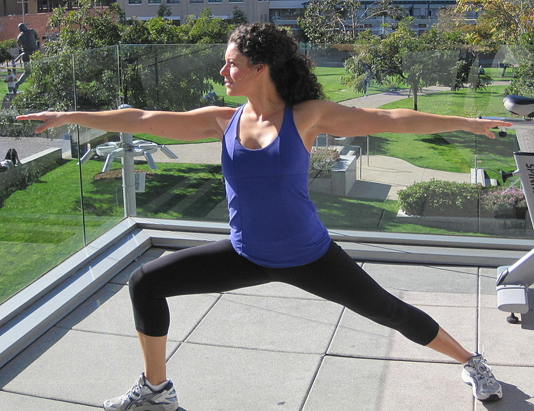 The Warrior Pose Two Burns Off Fat